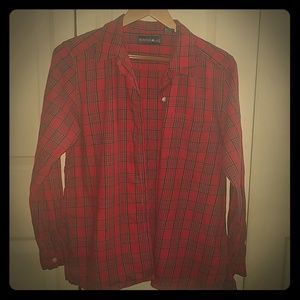 Womens Mountain Lake Flannel button up